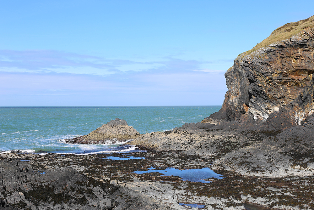 Looking out to sea at The Witches Cauldron Pembrokeshire