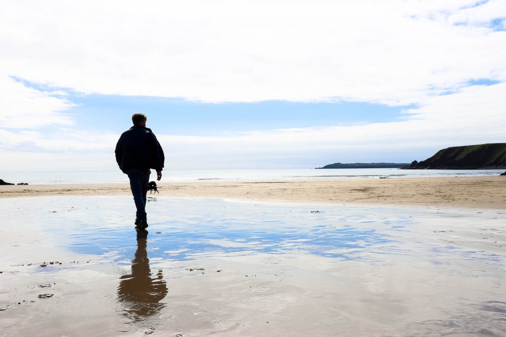 Teenager on Malores Sands beach